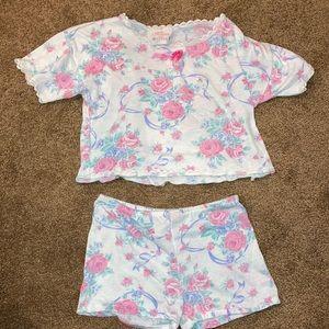 Vintage Allison Ann girls pajamas short set size 4